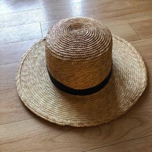 Janessa Leone Klint Natural Straw Fedora Hat. NWOT